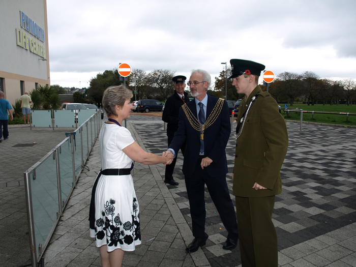 Sally Davies and Lord Mayor of Plymouth